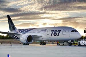 Boeing celebrated the delivery of the first 787 Dreamliner