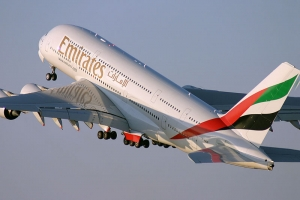 Emirates Airlines atterrit � Washington