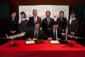 Etihad et China Eastern signent un accord