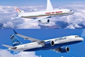 Accord interligne entre Royal Air Maroc et JetBlue Airways.